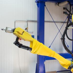 Linea di verniciatura con Robot presso Wagner S.p.A.
